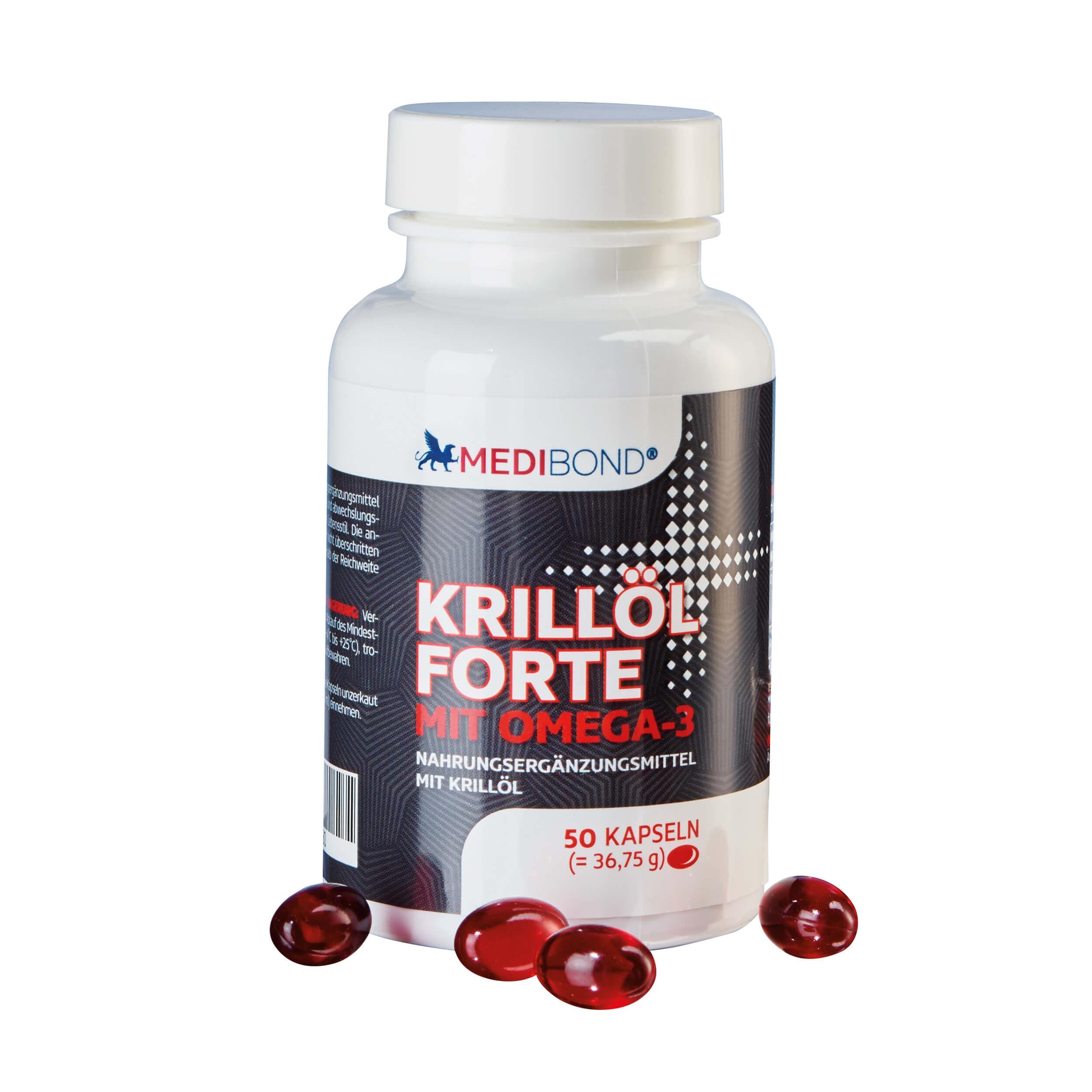 KRILLu00d6L FORTE   Gesunde Fettsu00e4uren   Vitamine Und Mineralien   Medibond